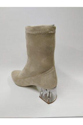 ayakkabıhavuzu Bayan Vizon Rengi Süet Bot 2