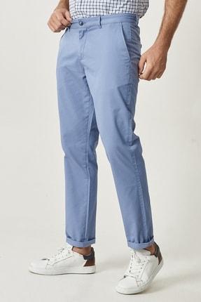 Altınyıldız Classics Erkek Mavi Kanvas Slim Fit Chino Pantolon 0