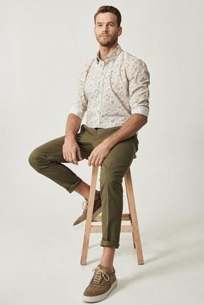 Altınyıldız Classics Erkek Yeşil Slim Fit Desenli Pantolon 2