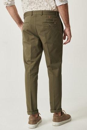 Altınyıldız Classics Erkek Yeşil Slim Fit Desenli Pantolon 3