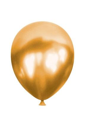 Outlet Deposu Metalik Gold Lateks Balon - 10 Adet 1