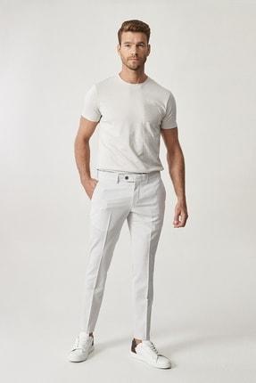 Altınyıldız Classics Erkek Gri Slim Fit Desenli Pantolon 1