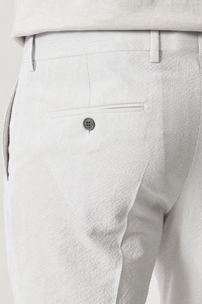 Altınyıldız Classics Erkek Gri Slim Fit Desenli Pantolon 3
