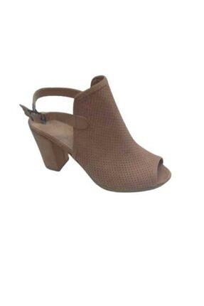 Kadın Pudra Kapalı Topuklu Ayakkabı 211