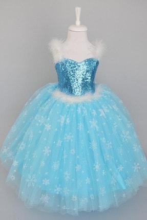 Aslı Türkoğlu Mavi Elsa Elbise 0