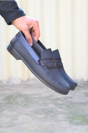 ALBİDÜNYA Erkek Lacivert Ortopedik Tabanlı Baskı Detay Modelli Günlük Ayakkabı 4