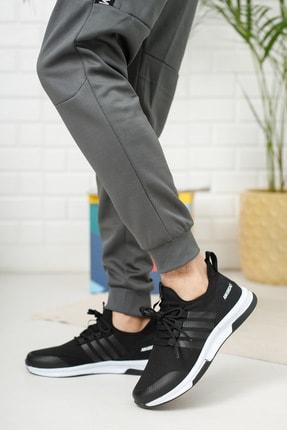 meyra moda Siyah Beyaz Erkek Sneaker 0
