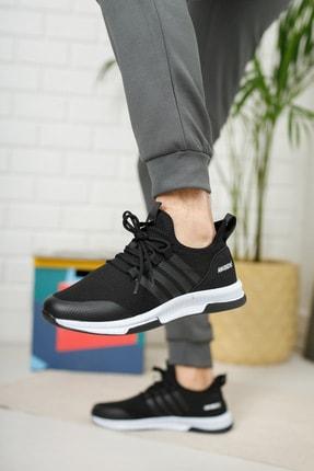 meyra moda Siyah Beyaz Erkek Sneaker 3