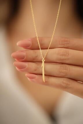 Ninova Silver Kadın Elif Model Altın Kaplama Gümüş İtalyan Kolye 3