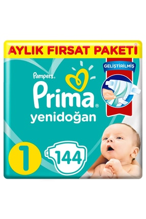 Prima Aktif Bebek 1 Beden 144'lü Aylık Fırsat Paketi 0