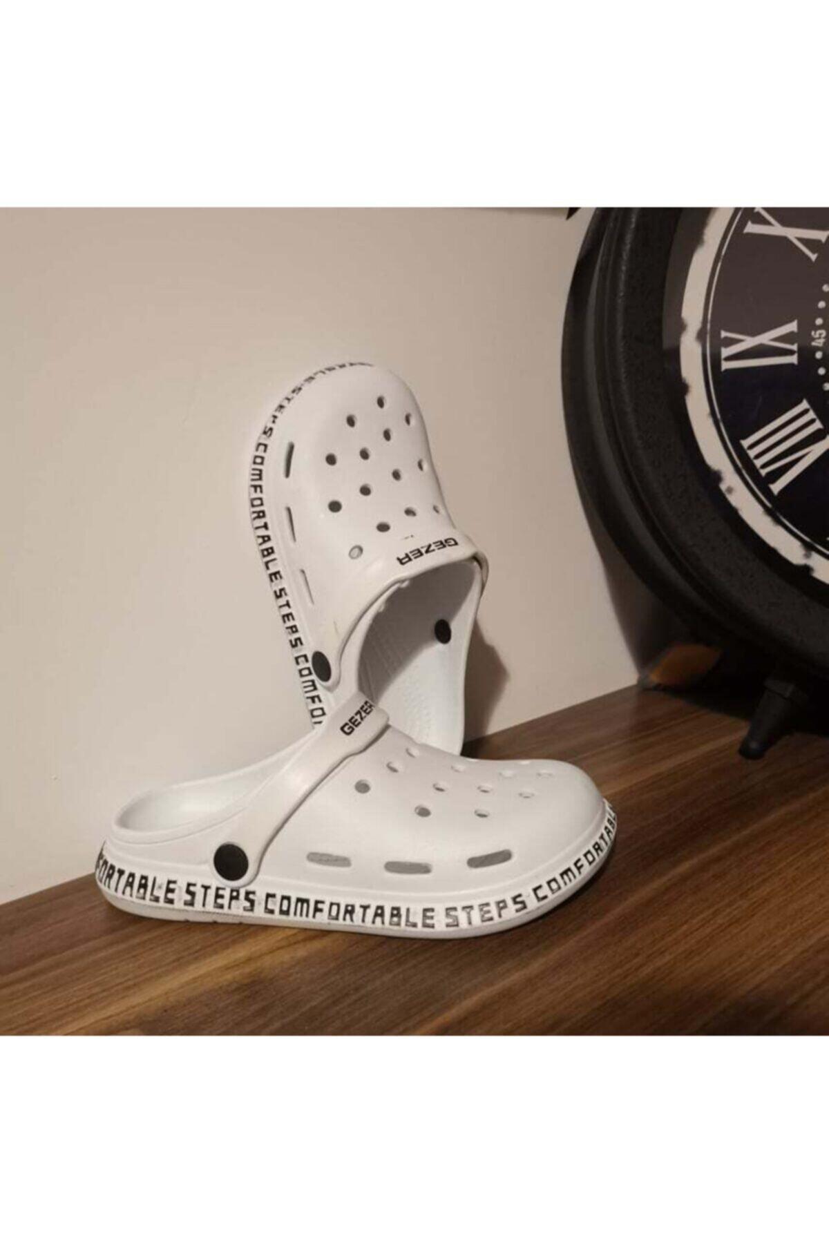 Beyaz Unisex Hastane Terlik Sandalet