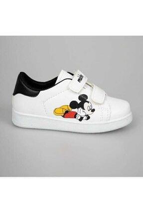 YSRSPOR Unisex Çocuk Beyaz Cırtlı Günlük Spor Ayakkabı 1