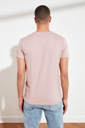 TRENDYOL MAN Koyu Gül Kurusu Erkek Basic Pamuklu Kısa Kollu Bisiklet Yaka Slim Fit T-Shirt TMNSS19BO0001 4