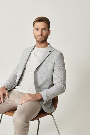 Altınyıldız Classics Erkek Haki Slim Fit Desenli Ceket 1