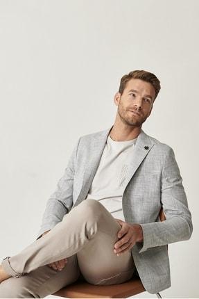 Altınyıldız Classics Erkek Haki Slim Fit Desenli Ceket 2