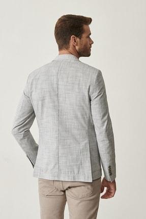 Altınyıldız Classics Erkek Haki Slim Fit Desenli Ceket 3