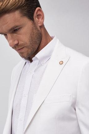 Altınyıldız Classics Erkek Beyaz Slim Fit Ceket 4