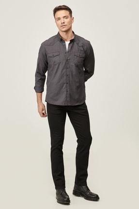 Altınyıldız Classics Erkek Siyah 360 Derece Her Yöne Esneyen Rahat Slim Fit Pantolon 1