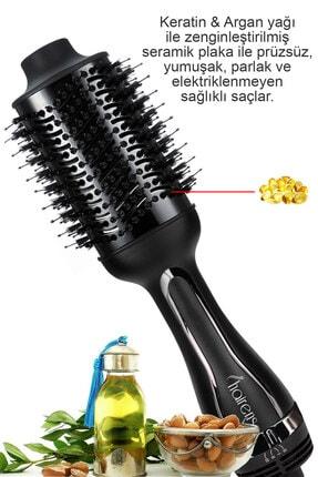 Hairens Hrs-800 Iyonik Hacimlendirici Saç Kurutma Fırçası & Saç Düzleştirici & Saç Kurutma Makinesi 1200watt 3