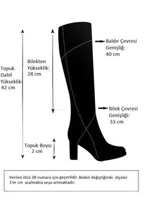Fox Shoes Siyah Kadın Çizme E476051504 4