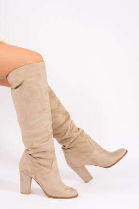 Fox Shoes Vizon Kadın Çizme G572443602 2