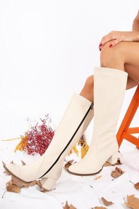 Fox Shoes Bej Kadın Çizme A654252709 3
