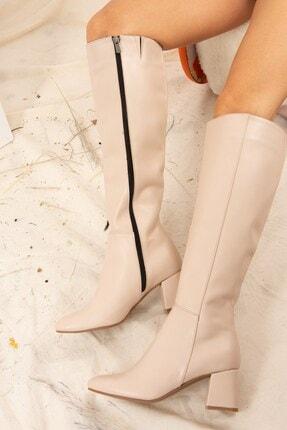 Fox Shoes Ten Suni Deri Kadın Çizme J518023009 3