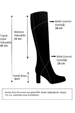 Fox Shoes Ten Suni Deri Kadın Çizme J518023009 4