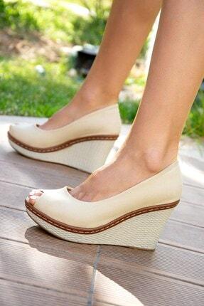 Fox Shoes Bej Kadın Dolgu 9674040305 0