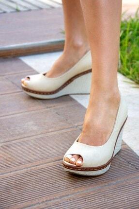 Fox Shoes Bej Kadın Dolgu 9674040305 1