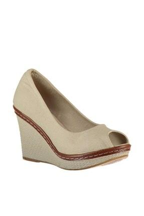 Fox Shoes Bej Kadın Dolgu 9674040305 3
