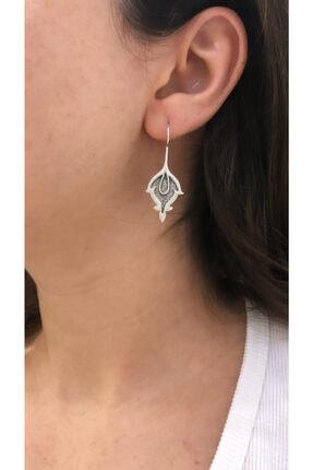 Joel Jewelry El Yapımı Oksitli Yaprak Desenli Özel Tasarım 925 Ayar Gümüş Küpe 1