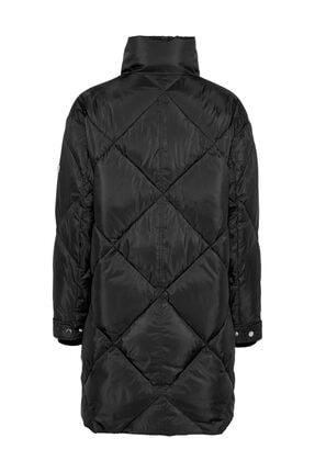 Tommy Hilfiger Kadın Siyah Mont Tjw Dıamond Quılted Coat DW0DW09076 1
