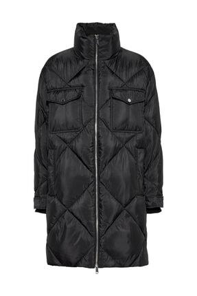 Tommy Hilfiger Kadın Siyah Mont Tjw Dıamond Quılted Coat DW0DW09076 0