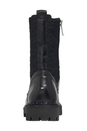 Tommy Hilfiger Kadın Siyah Bot & Bootie Materıal Mıx Th Bootıe FW0FW05190 1