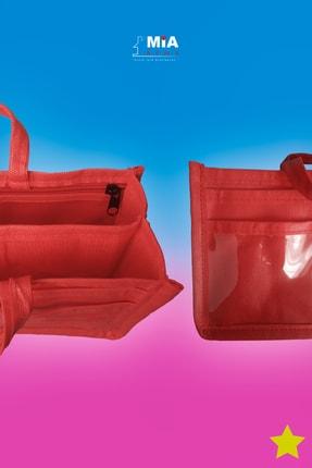MİA Home Production Makyaj Ve Çok Amaçlı Kırmızı Çanta Içi Düzenleyeyici  Organizer 4