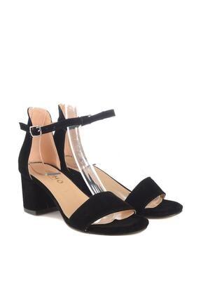 Soho Exclusive Siyah Süet Kadın Klasik Topuklu Ayakkabı 14529 3