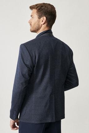 Altınyıldız Classics Erkek Lacivert Slim Fit Desenli Ceket 3