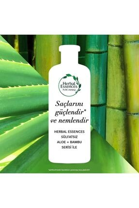 Herbal Essences Sülfatsız Aloe Bambu Şampuan 380 ml 2 Adet + Saç Kremi 275 ml 3