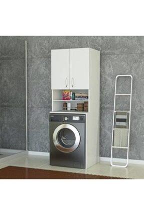 ARS GRUP MOBİLYA Ars Grup Çamaşır Makinesi Dolabı Banyo Dolabı Kapaklı Dolap Raflı Kapaklı.çamaır Makinesi Korumalığı 0
