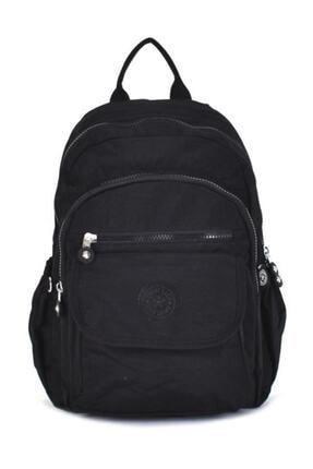 Smart Bags Kadın Siyah Krinkıl Kumaş Sırt Çantası 1187 0