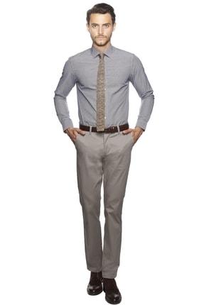 Altınyıldız Classics Erkek Mor-beyaz Slim Fit Desenli Gömlek 1