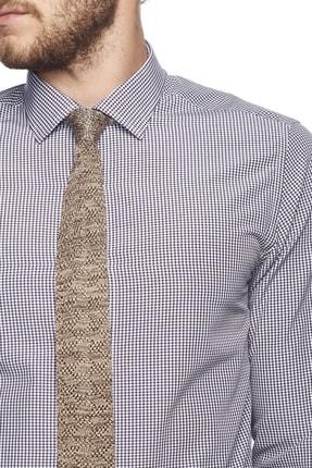 Altınyıldız Classics Erkek Mor-beyaz Slim Fit Desenli Gömlek 4