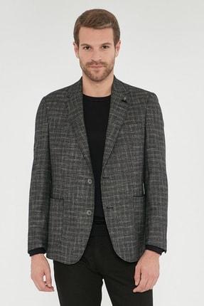Picture of Erkek Antrasit Regular Fit Desenli Ceket