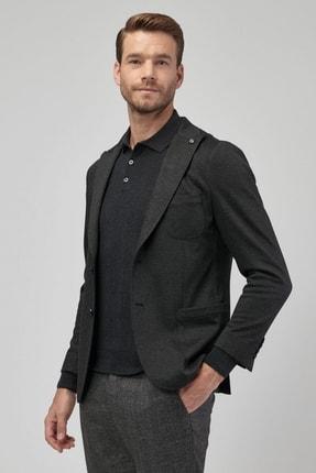 Altınyıldız Classics Erkek Antrasit Slim Fit Desenli Ceket 0