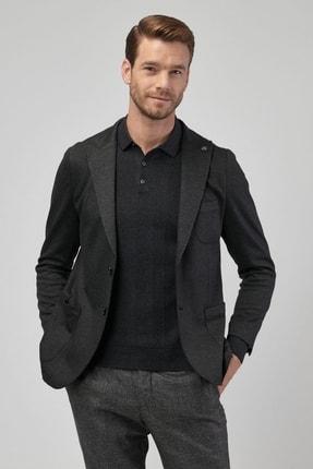 Altınyıldız Classics Erkek Antrasit Slim Fit Desenli Ceket 2