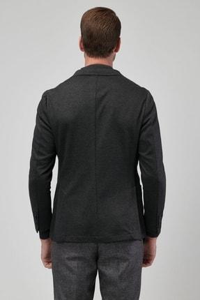 Altınyıldız Classics Erkek Antrasit Slim Fit Desenli Ceket 3