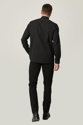Altınyıldız Classics Erkek Siyah Kanvas Slim Fit Dar Kesim %100 Koton 5 Cep Pantolon 2