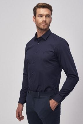Altınyıldız Classics Erkek Koyu Lacivert Tailored Slim Fit Klasik Gömlek 1