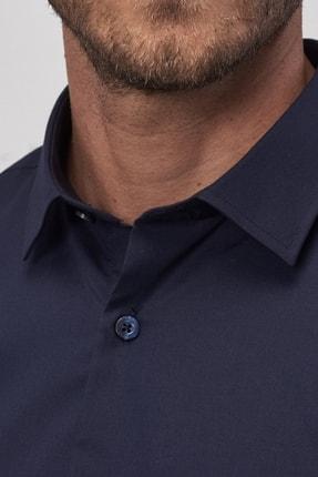 Altınyıldız Classics Erkek Koyu Lacivert Tailored Slim Fit Klasik Gömlek 4